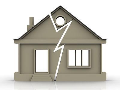 broken cartoon house - tenant landlord lawyer